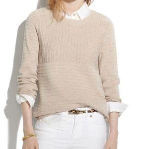 Madewell Linear Stitch Sweater Size Medium